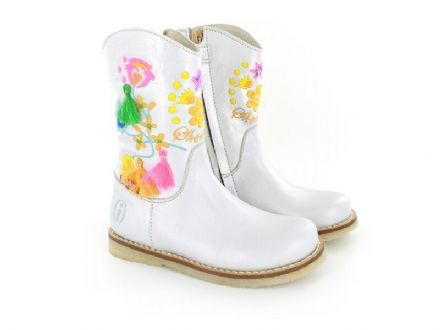 ShoesMe Embroidered Cowboy Boots (Silver) 34 only!